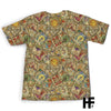 Vintage Tarot Seamless Pattern EZ05 0903 All Over T-shirt