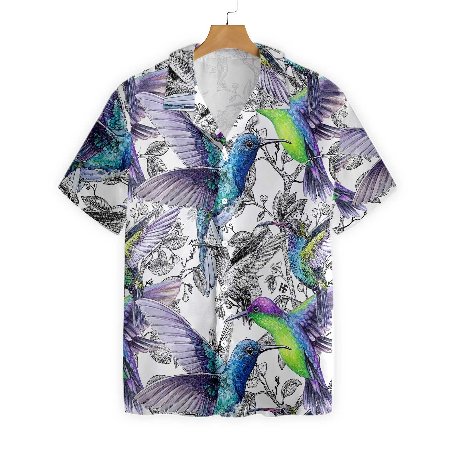 Vintage Hummingbirds EZ23 0801 Hawaiian Shirt