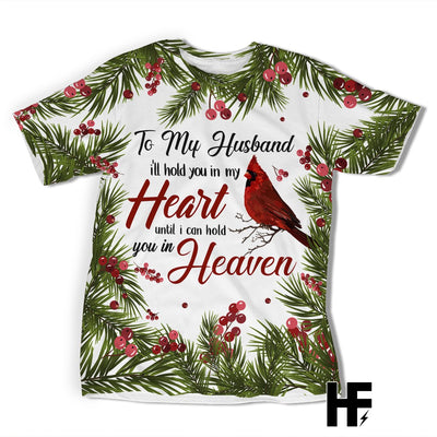 Widow Wife To My Husband Cardinal Bird EZ01 1703 All Over T-shirt