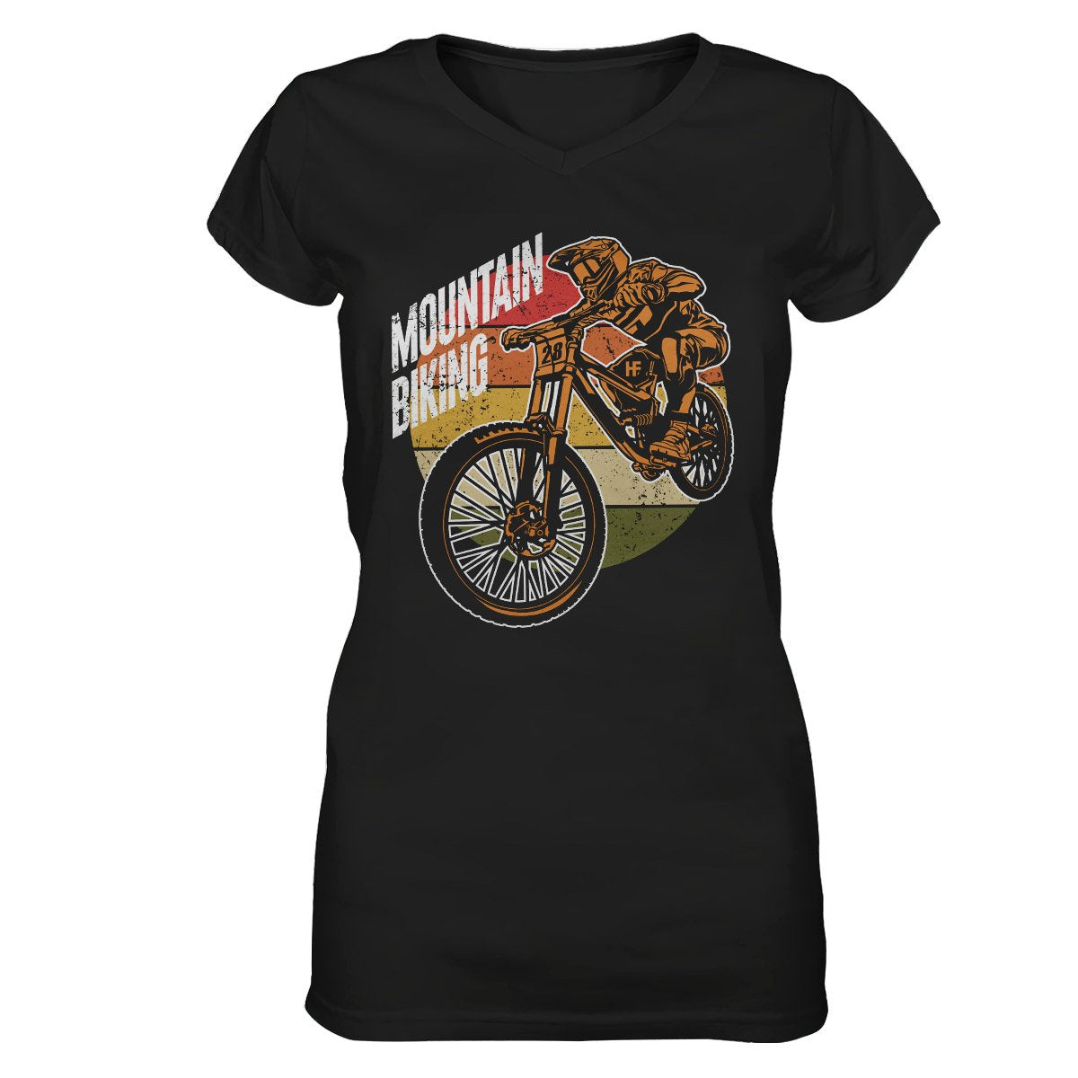 Vintage Mountain Biking EZ22 1410 Women V-neck T-shirt