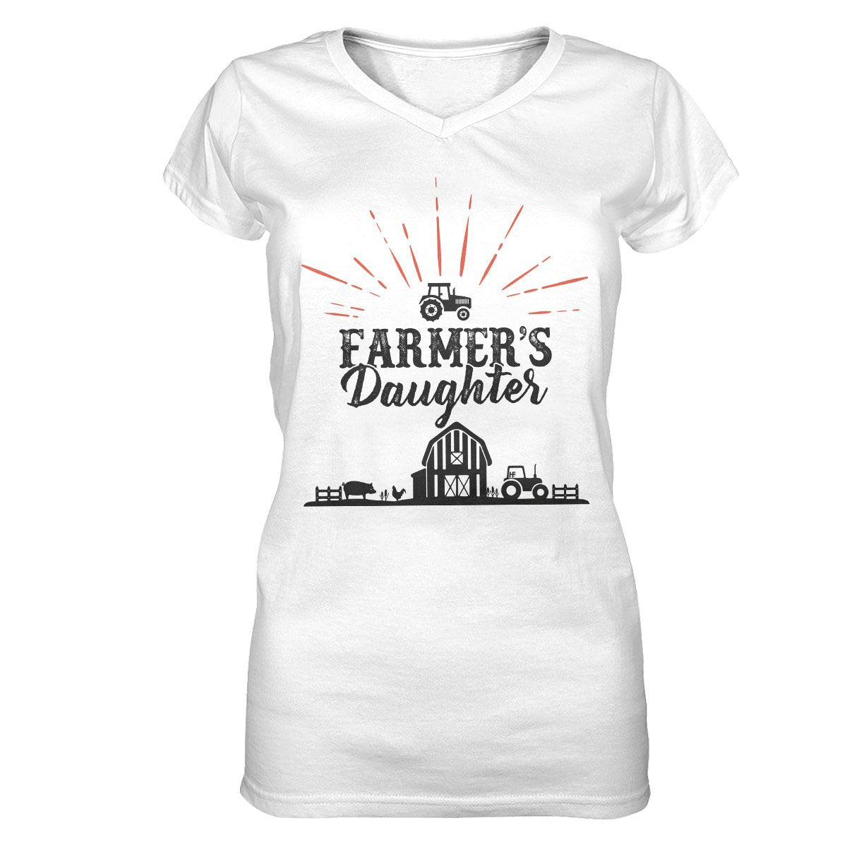 Farmer's Daughter EZ23 1702 Women V-neck T-shirt