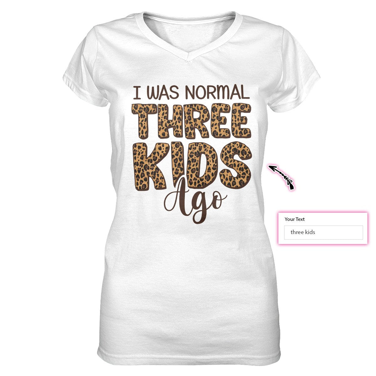 I Was Normal Mother's Day EZ20 2502 Custom Women V-neck T-shirt