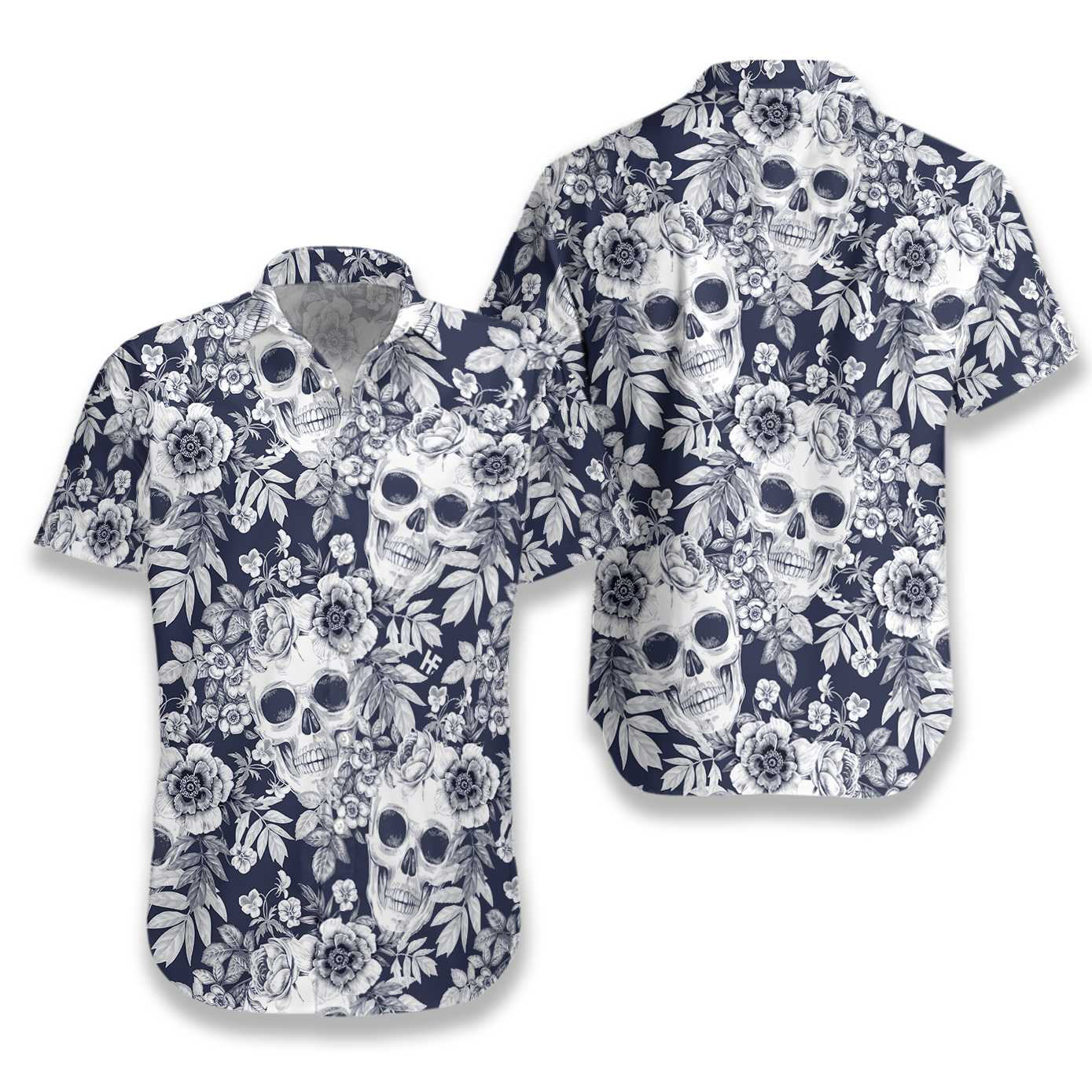 Wreaths Of Garden Flowers And Skulls EZ22 2810 Hawaiian Shirt