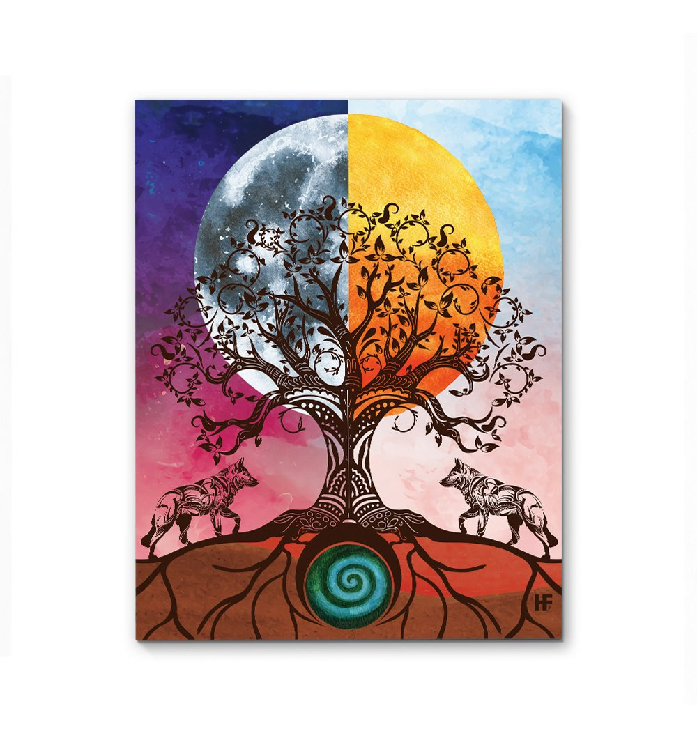 Yggdrasil Tree Of Life EZ22 1712 Canvas