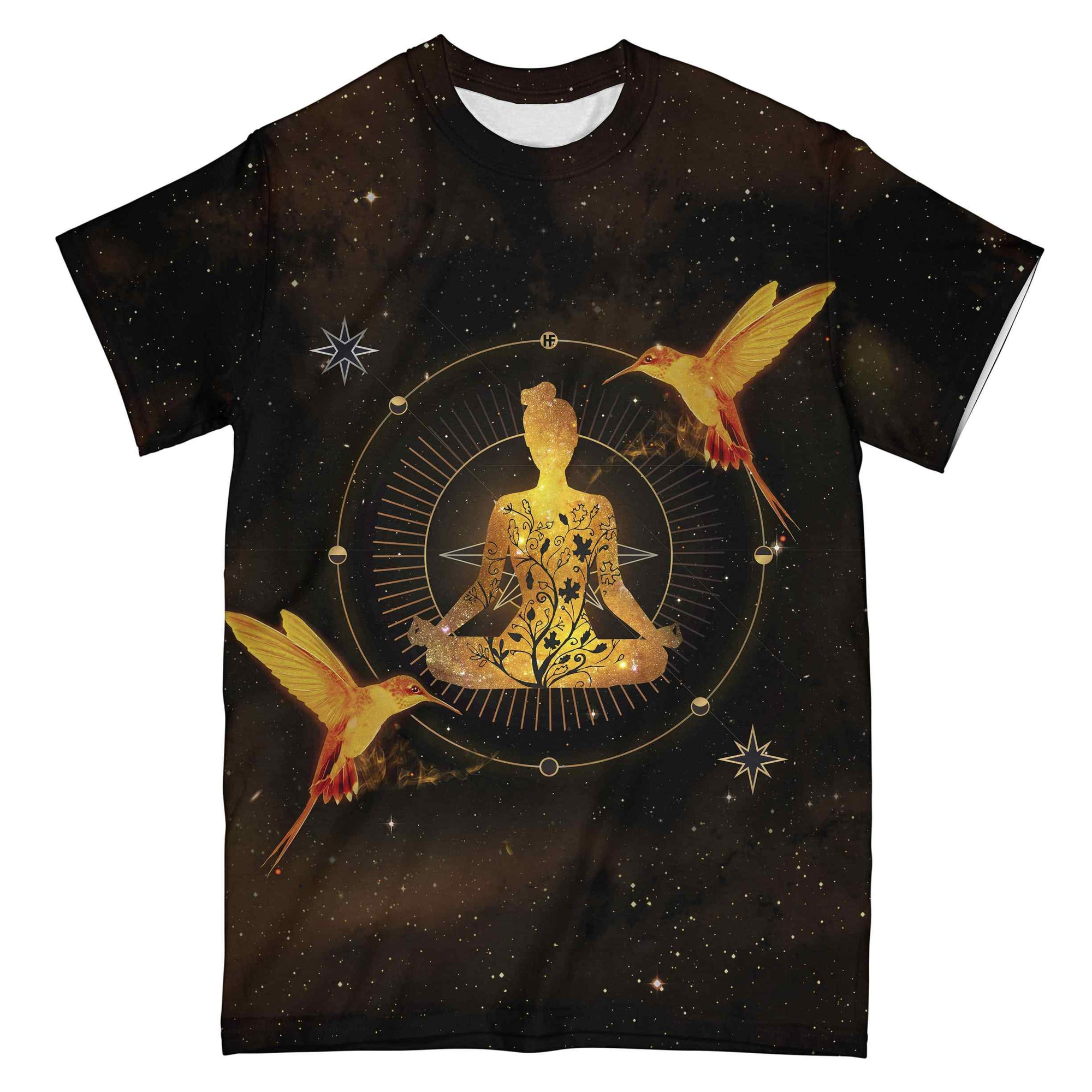 Yoga Galaxy Hummingbird EZ07 0804 All Over T-Shirt