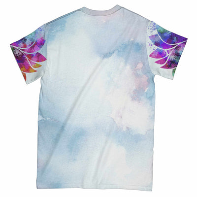 Yoga Headstand Hummingbird Painting EZ07 0904 All Over T-Shirt