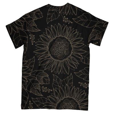 Yoga Love Sunflower Black Pattern EZ07 2703 All Over T-Shirt