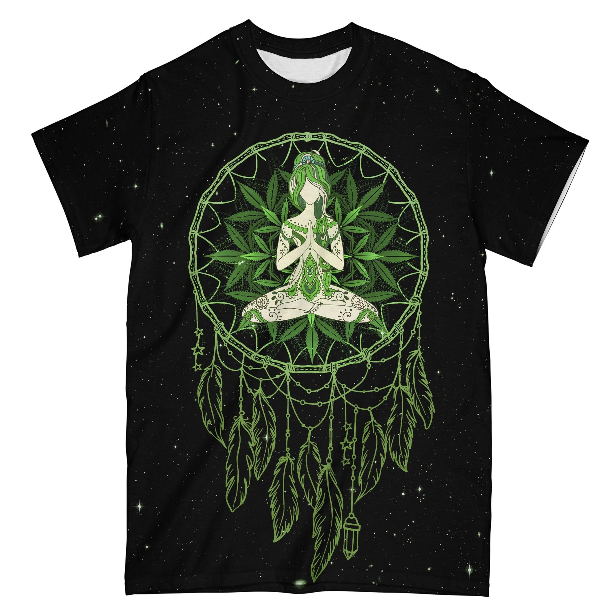 Yoga Weed Dreamcatcher Green EZ07 0604 All Over T-Shirt