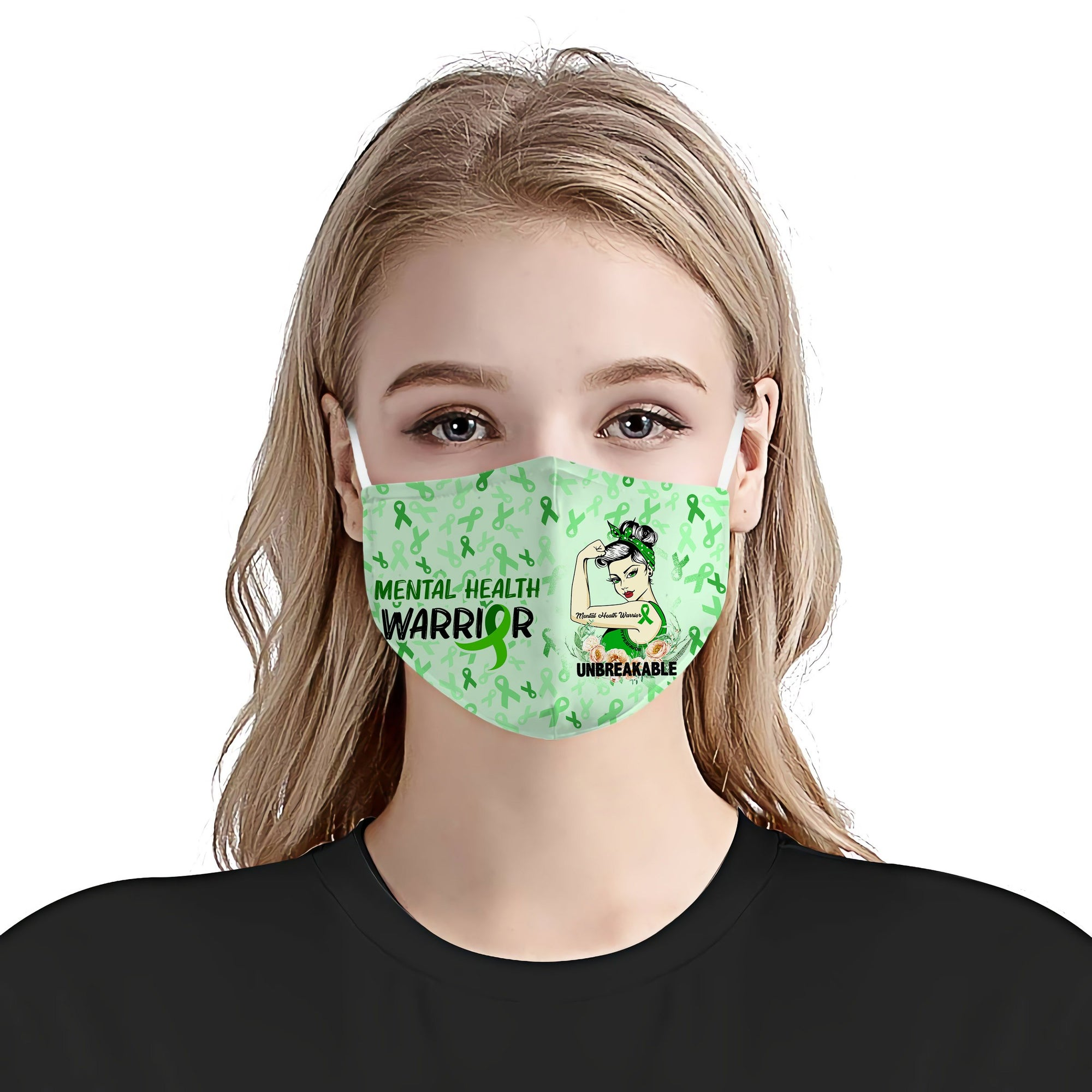 Mental Health Awareness Unbreakable EZ01 Face Mask