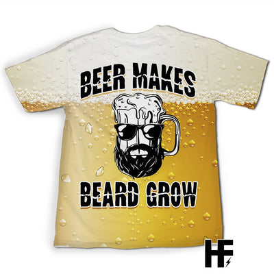 Beer Makes Beard Grow EZ08 1803 All Over T-shirt