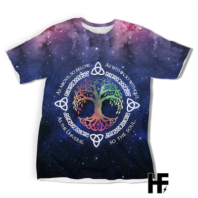 Galaxy Viking Tree Of Life EZ07 1203 All Over T-Shirt