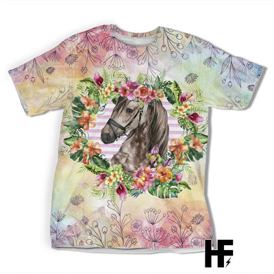 Just A Girl Who Loves Horse Tropical EZ05 1603 All Over T-shirt