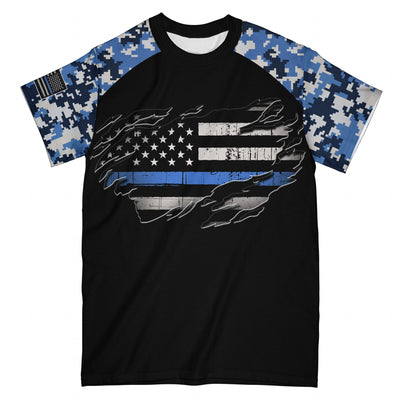 Back The Blue EZ05 2908 All Over T-Shirt