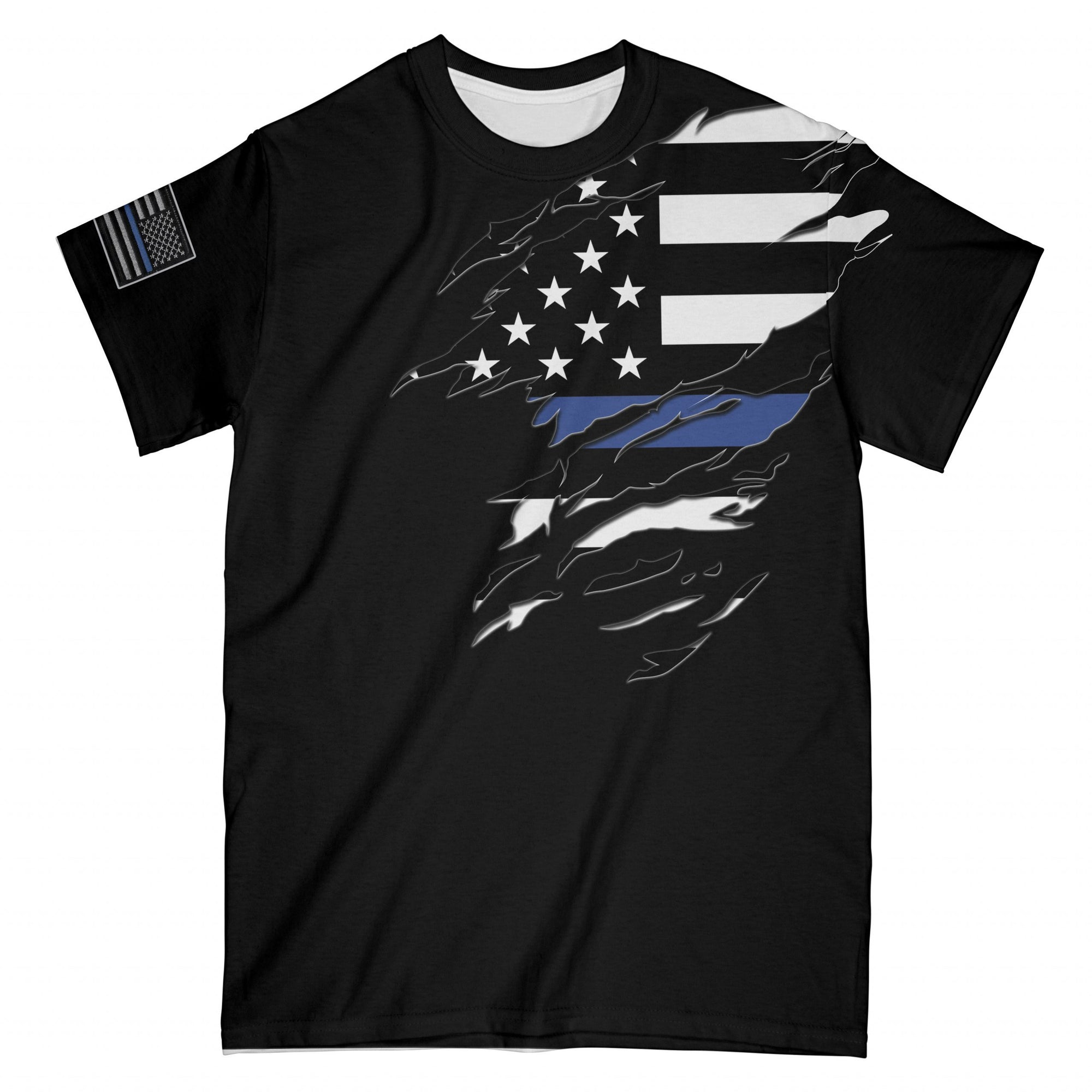 Thin Blue Line Police Name Personalized EZ05 2908 Custom All Over T-Shirt