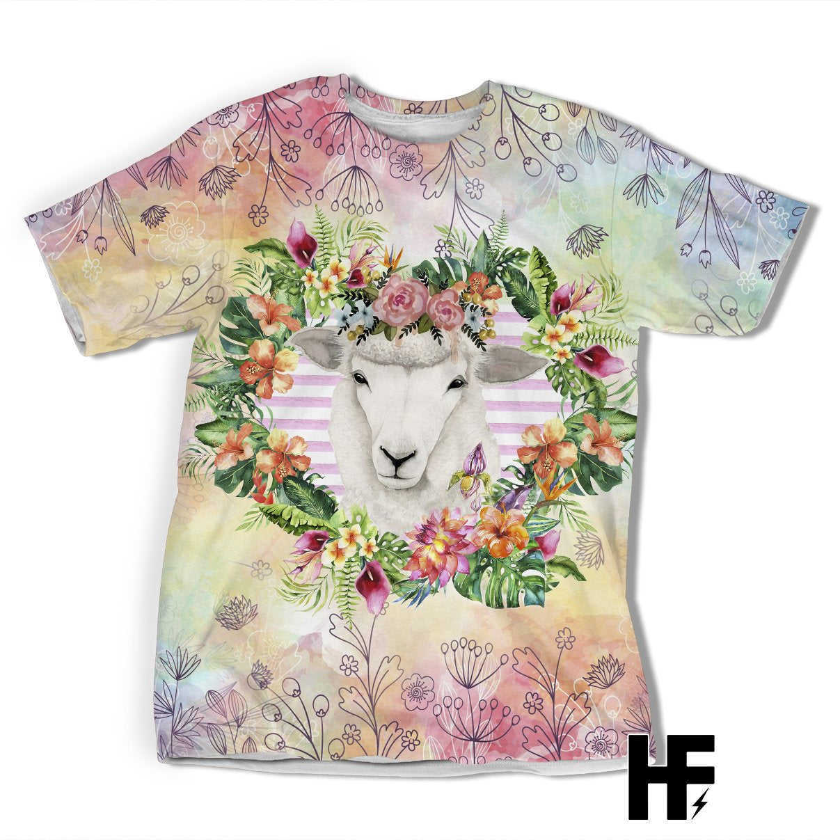 Just A Girl Who Loves Sheep Tropical EZ05 1603 All Over T-shirt