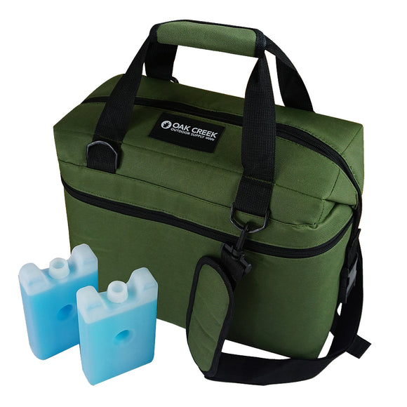 Lightweight Cooler Bag. Features Taller and Slimmer Design. Great for Family Outings, Picnics and More. Soft-Sided Cooler Bundle Includes 2 Ice Packs. Holds 24 Cans. 14