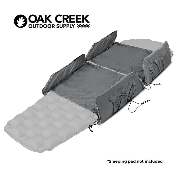 "Hammock Sleeping Pad Extender Set. Closed Cell Foam Provides Insulation from the Elements and Fits All Adult Hammock Sizes.  Includes Two Lightweight and Fully Adjustable Extenders and Weighs 0.5 lbs. Pack Size: 20"" L x 7.5"" W x 2"" H"