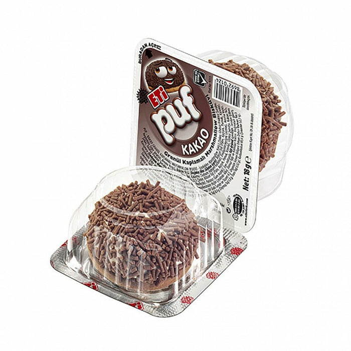 Eti Puf Cocoa Granular Coated Marshmallow Biscuit 5*18 Gr