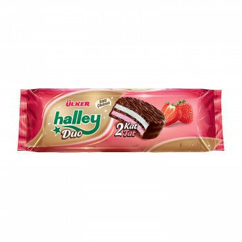 Ulker Halley Duo Strawberry Biscuit 225 Gr