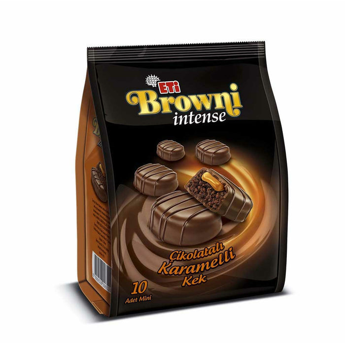 Eti Brownie Intense Caramel Chocolate Cake 160 GR