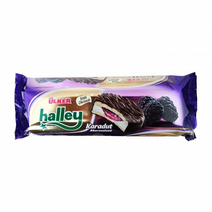 Ulker Halley Black Mulberry Sandwich Biscuits 236 gr