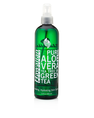 Hawaiian Botanicals pure Aloe Vera, Tea Tree Oil, Green Tea, healing, hydrating spray for healthy skin