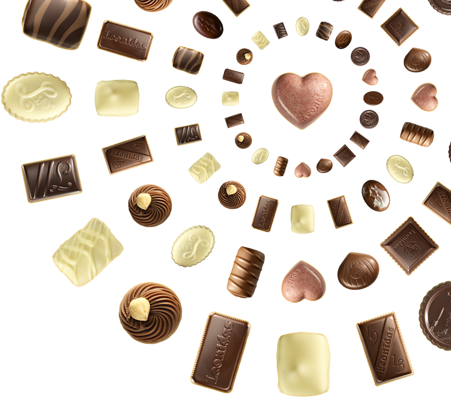 The original selection of leonidas chocolates