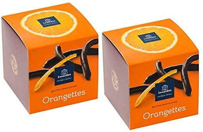 Leonidas Candied Chocolate Orange Peel, Belgian Dark Chocolate Orangettes, Gluten Free Gifts, 200g each, Set of 2 Leonidas Kensington