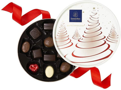 Leonidas Round Christmas Dora Box Chocolate Assortment Gift, 180g Leonidas Kensington