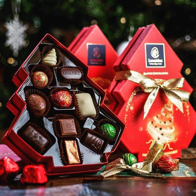 Limited Edition Leonidas Christmas Themed 10 Piece Gift Box in a Shape of a Christmas Tree, 150g Leonidas Kensington