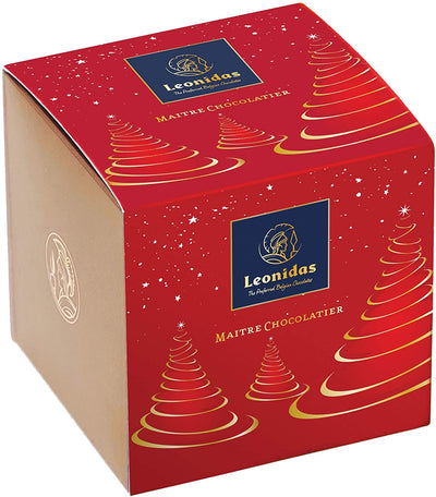The Leonidas Cubes: Christmas Themed Box with a Selection of Pralines, 200g (Vibrant Red) Leonidas Kensington