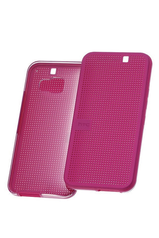 HTC One (M9) Dot View Case - Candy Floss + FREE Genuine Screen Protector Pack