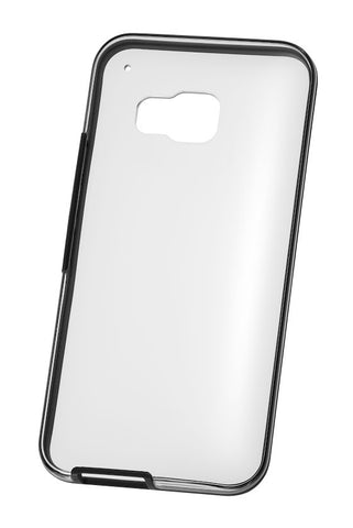 HTC One M9 Clear Case w/ Onyx Black Border. + FREE Genuine Screen Protector Pack