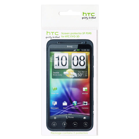HTC EVO 3D Screen Protector - 2 Pack