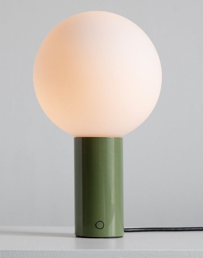 Orb 10 Table Lamp - Reed Green, 10w x 16h
