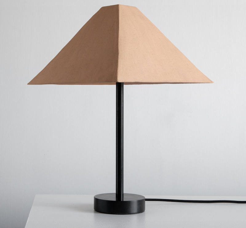 Pyramid Table Lamp - Tan, 13w x 16.5h