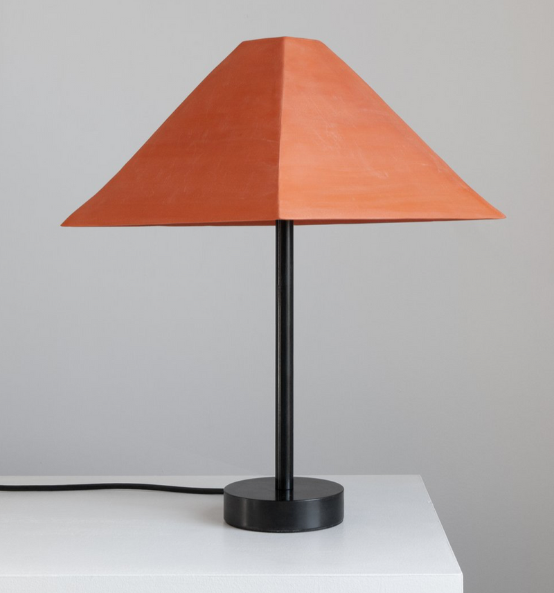 Pyramid Table Lamp -Terracotta, 13w x 16.5h