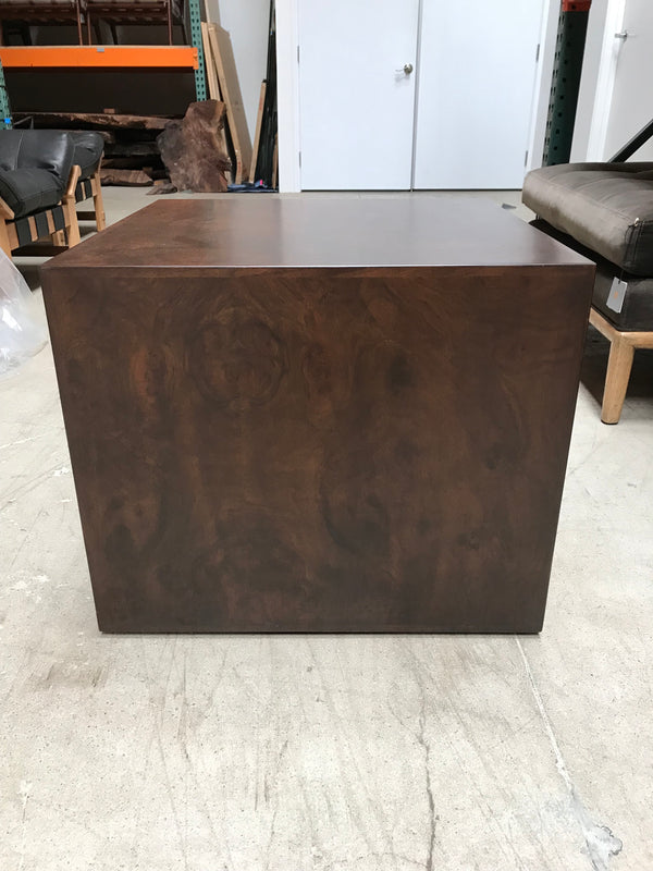 Prospect Square Side Table - Burl