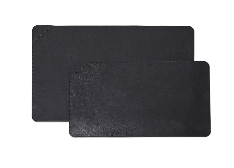 Leather Desk Pad - Large Black
