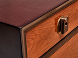Rosewood and Walnut 2 Drawer Chest By Edward Wormley for Dunbar
