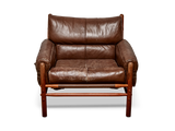 Leather Lounge Chair by Arne Norell