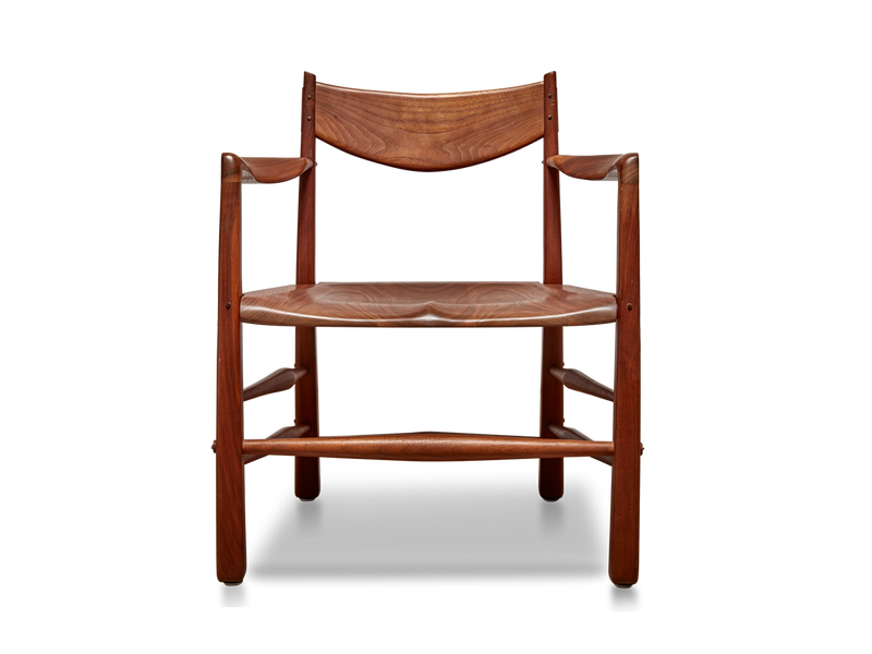 Pair of Sculptural Walnut Chairs by Richard Patterson