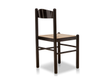 Set of 4 Black Lacquer Dining Chairs with Rush Seats by Modernista
