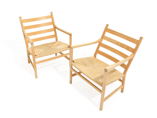 "Hans J Wegner: ""CH44""- Pair of Armchairs with Beech Frame"