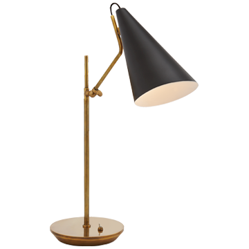 Clemente Table Lamp - Black, 7w x 21h