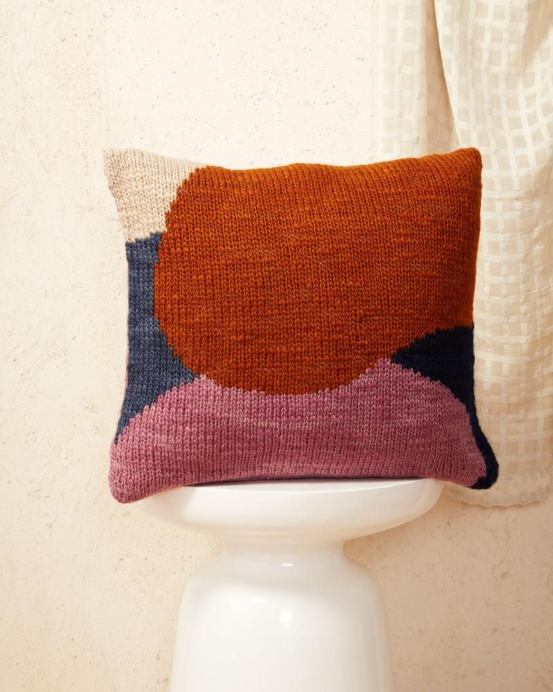 Hillside Pillow Rust 18w x 18d