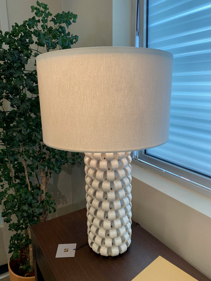 Bedside Ring Lamp in Ice