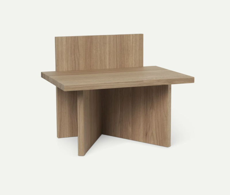 Oblique Stool - Oak