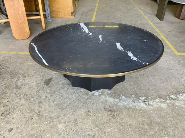"Normandie Cocktail Table 48"" - Brass Ring"