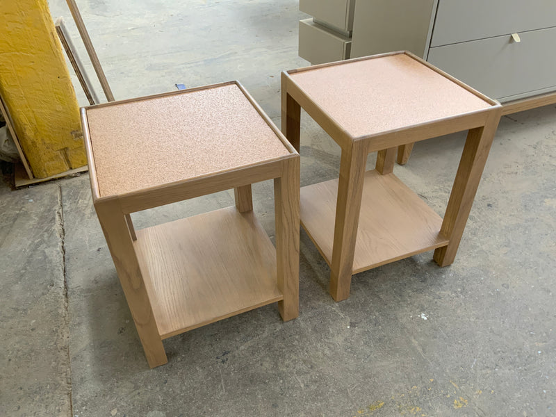 Square Narrow Side Table - Wide
